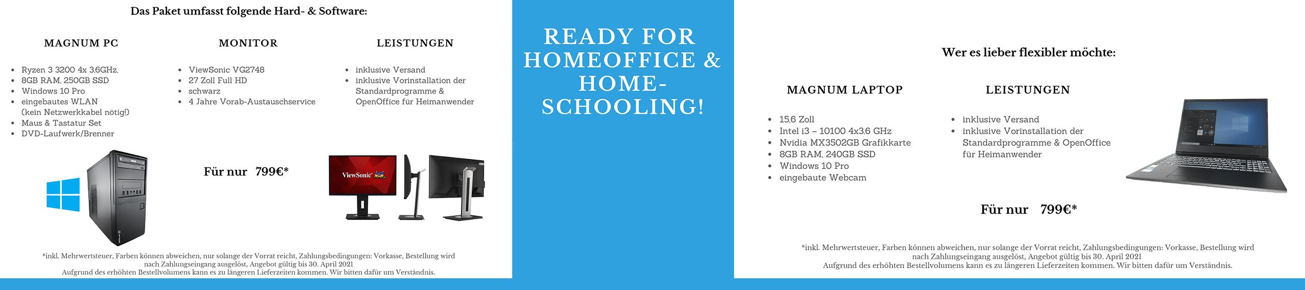 Magnum GmbH Aktion Homeschooling